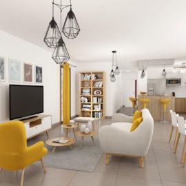 Résidence SKY NUI Penthouse vue 3D