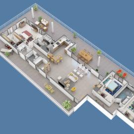 Résidence SKY NUI T5 plan