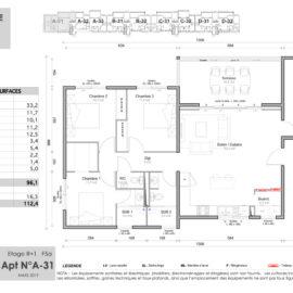 Résidence Mateata plan F5a